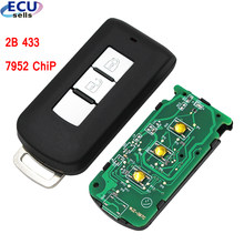 2 botões inteligente remoto chave fob fsk433mhz 7952 chip para mitsubishi wiith pequena chave