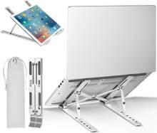 Przenośny stojak na laptopa aluminiowy składany Macbook Pro wsparcie regulowany uchwyt na notebooka podstawa tabletu na komputer PC uchwyt prezent