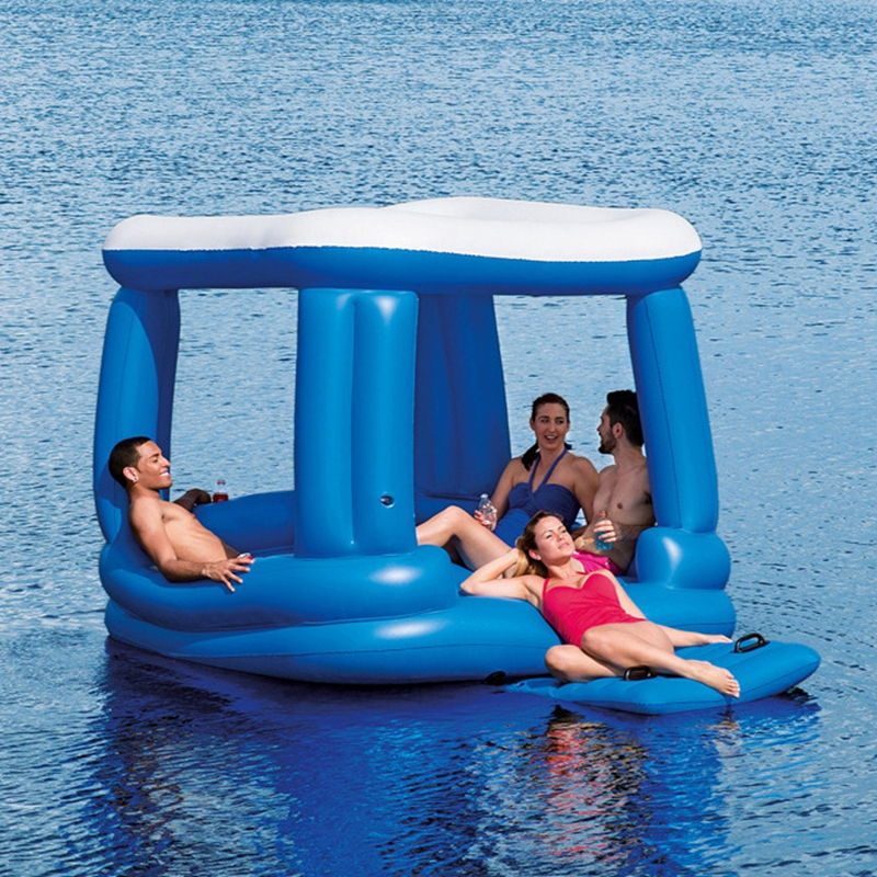 4 -6 Person Adult Large Pool Floats Inflatable House Castle Pool Floatie Giant Water River Lake Floats Swimming Pool Toys