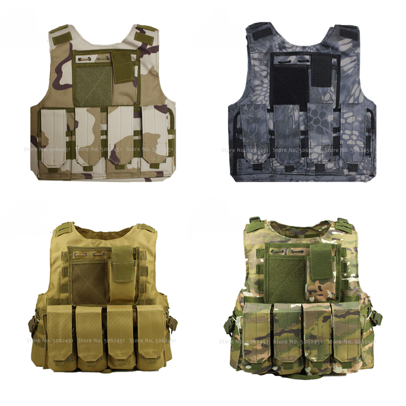 Children Combat Camouflage Army Soldier Bulletproof Vest Kid Hunt Tactical Armor Military Uniform Special Forces Cosplay Costume(China)
