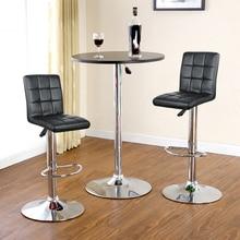 2PCS Bar Chairs Living Room Decor High Stool Adjustable Kitchen Modern Swivel Funiture Soft Stool Chair Nordic Backrest HWC