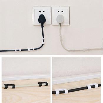 20 sztuk samozaciskowy kabel samoprzylepny organizator z klipsem przewód zarządzania uchwyt na drut przewody zasilające przewody ładowania kable USB oplot na kable tanie i dobre opinie ISHOWTIENDA CN (pochodzenie)