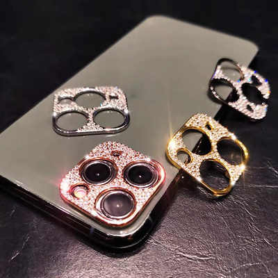Diamond Camera Lens Protector Film Voor Iphone 11 Pro Max Rhinestone Glitter Crystal Len Protector Cover Voor Iphone Glas Cover