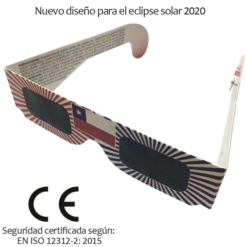 100pcs/lot Safe 3D Paper Solar Glasses,Eclipse Viewing Glasses Newest Design For 2020