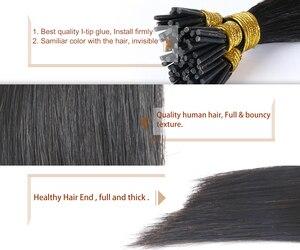 QHP прямые волосы для наращивания Remy 50 шт./компл. прямые кератиновые человеческие волосы
