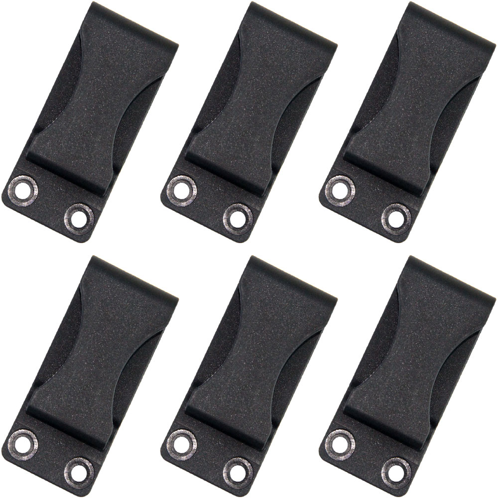 6PCS Black QingGear Kydex Holster Sheath Belt Clip Clasp Buckle Hook Loop With Mounting Screws DIY Outdor Tool