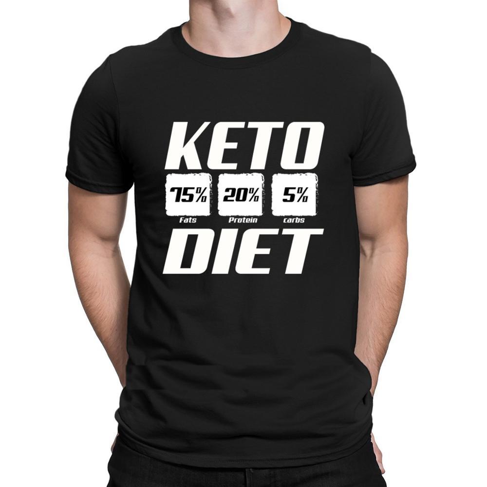 Keto Diet Macro Shirt T Shirt Classic Men Tops Interesting Summer 2020 Funny T Shirts Create Male Fun Short Sleeve