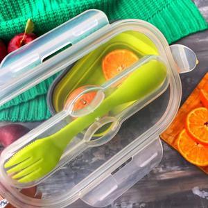 Image 5 - Scatola di Pranzo del Silicone Bento Box Per I Bambini Pieghevole Lunch Box Contenitori Per Alimenti Per Bambini Scatole di Pranzo Scatola di Pranzo di Bento Portatile Pieghevole