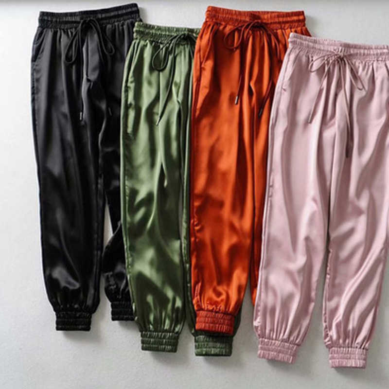 2019 Spring Summer Women Pants Fashion Female Solid High Waist Loose Harem Pant Joggers Casual Pants Streetwear