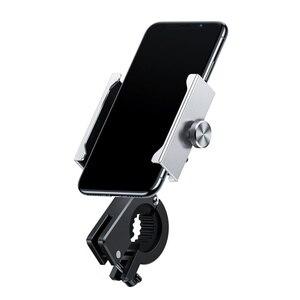 Image 5 - Baseus Motorcycle Bicycle Phone Holder For iPhone Samsung Bike Mobile Phone Stand Handlebar Clip Moto Mount Bracket Bike Holder