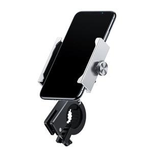 Image 5 - Baseus Motorrad Fahrrad Telefon Halter Für iPhone Samsung Bike Handy Stehen Lenker Clip Moto Halterung Fahrrad Halter