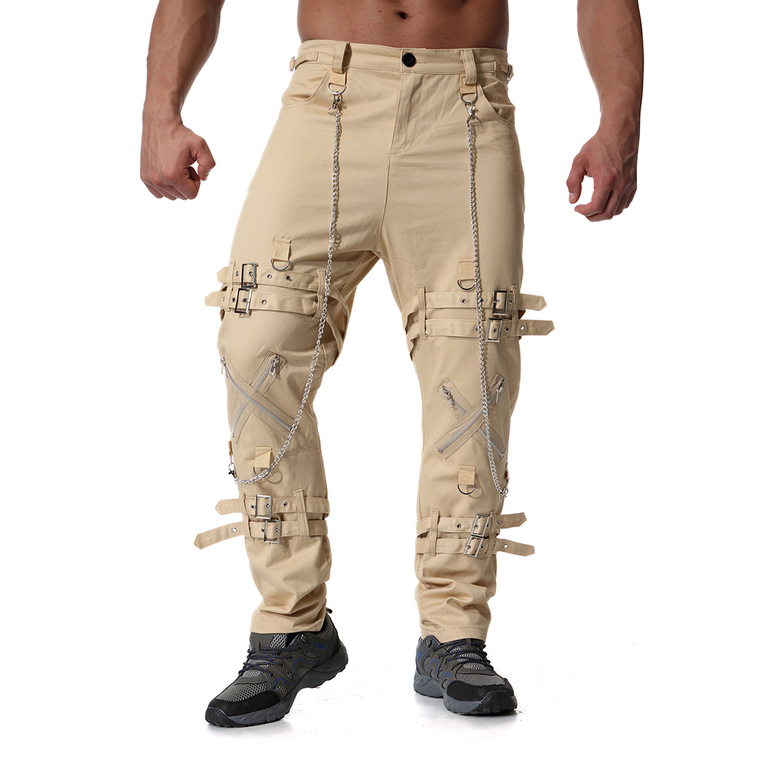 Pantalones para hombre, pantalones de chándal, pantalones de chándal, pantalones para hombre, hip hop, Camuflaje, pantalones tácticos de carga, Militar - 5