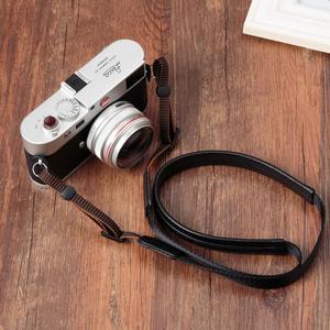 Image 2 - מקורי אמיתי עור + חגורה בעבודת יד מצלמה רצועת כתף צוואר חגורת עבור Canon/ניקון/סוני/פנסוניק/sigma/אולימפוס/פוג י