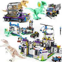 Mundo Jurásico Sets 4 park 3 juguetes de dinosaurios T-Rex bloques de ladrillos de construcción niño niños Owen Pteranodon Juguetes