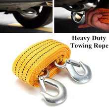 3T Hook Rop Truck High Strength Front Rear Nylon Racing Tow Towing Strap Portable Emergency Tools Accessories Multifunction