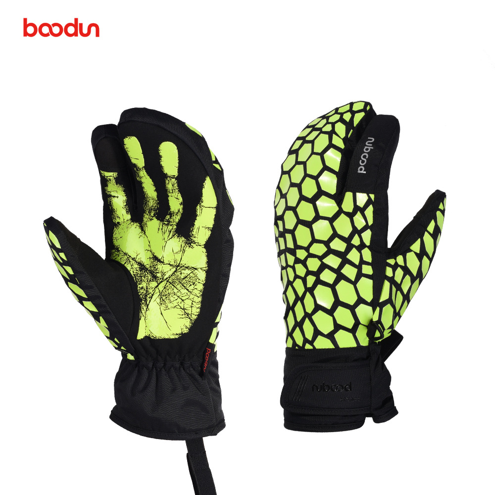 Boodun Men Women Ski Gloves Waterproof Windproof Winter Snowboard Skiing Gloves Thermal Warm Outdoor Snow Mittens For Boys Girls