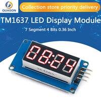 TM1637 4 Bits Módulo De Pantalla LED Digital para arduino 7 segmentos 0,36 pulgadas reloj ánodo rojo tubo cuatro Serial Driver Paquete de placa