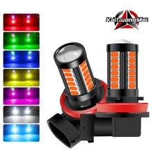 H11 H8 H4 H7 9005 9006 LED Fog Light Bulbs,Extremely Bright Car DRL Driving Fog Lights 5730 33SMD 12V White/Amber/Red/Blue/Pink