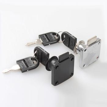 Zamki do szuflad z 2 blokada klawiszy sprzęt meblowy drzwi zamek meblowy do szafki na biurko skrzynka na listy 2 kolory zamki camlock tanie i dobre opinie CN (pochodzenie) 16MM