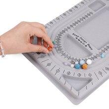 Yeni Fit DIY bilezik kolye boncuk gri akın boncuk kurulu takı yapımı organizatör tepsi tasarım zanaat ölçme aracı malzemeleri