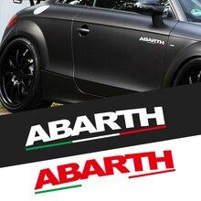 1/2 Uds coche ABARTH emblema cuerpo tronco de la etiqueta engomada del PVC para Fiat Stilo Ducato Bravo Doblo Grande minibús 500X 500I 500C Punto Panda Tipo