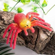 Colorful  Simulation Large Spider Insects Model Toy Prank Tricky Scary Toy Halloween Props Children's Model Toy цена и фото