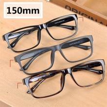 Vazrobe 150mm 대형 안경 프레임 남성 여성 지방 얼굴 안경 남자 안경 TR90 안경 처방 렌즈 남성 블랙