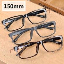 Vazrobe 150mm óculos de grandes dimensões quadro masculino feminino rosto gordo óculos homem óculos tr90 óculos para prescrição lente masculino preto