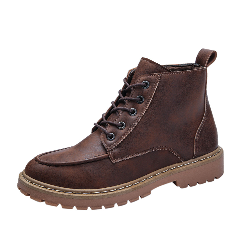 Men's boots fashion winter snow boots retro tools casual cool handsome motorcycle boots tooling simple boots