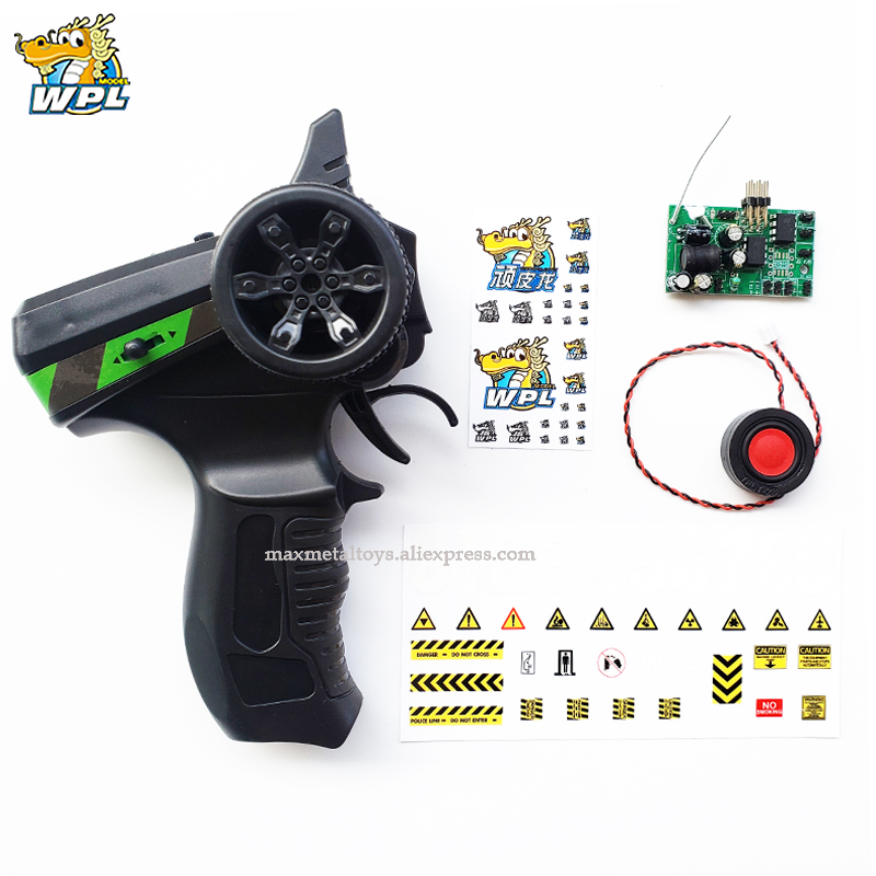WPL Transmitter Upgrade DIY Receiver Board Horn Black Remote Control Plastic Spare Parts Accessories Replacement For WPL Truck