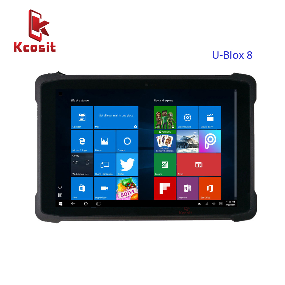 2019 K11H Industrial 10.1 Inch Tablet PC Windows 10 Home Intel Z8350 Rugged Shockproof Waterproof Dual Wifi 3G Sim HDMI GPS USB