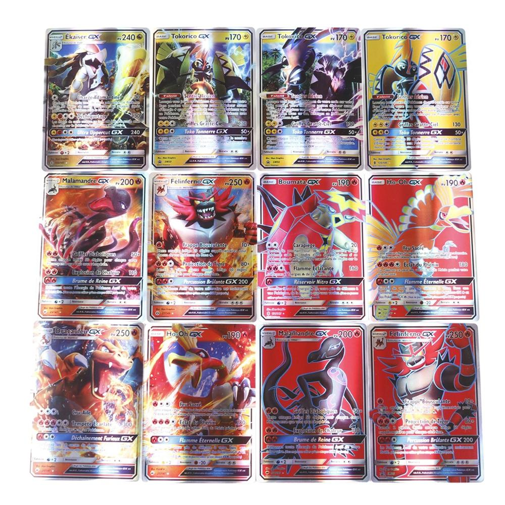 60Pcs/box Newest French Pokemon Cards GX Trading Game Card Children Collection Toy