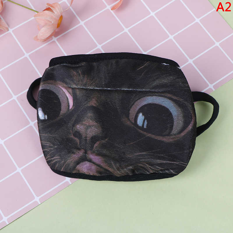 1PCS Baumwolle Nette Anti Staub Maske Kpop Mund Maske Hund Katze Masque Kpop Masken Anime Cartoon Mund Muffel Gesicht maske