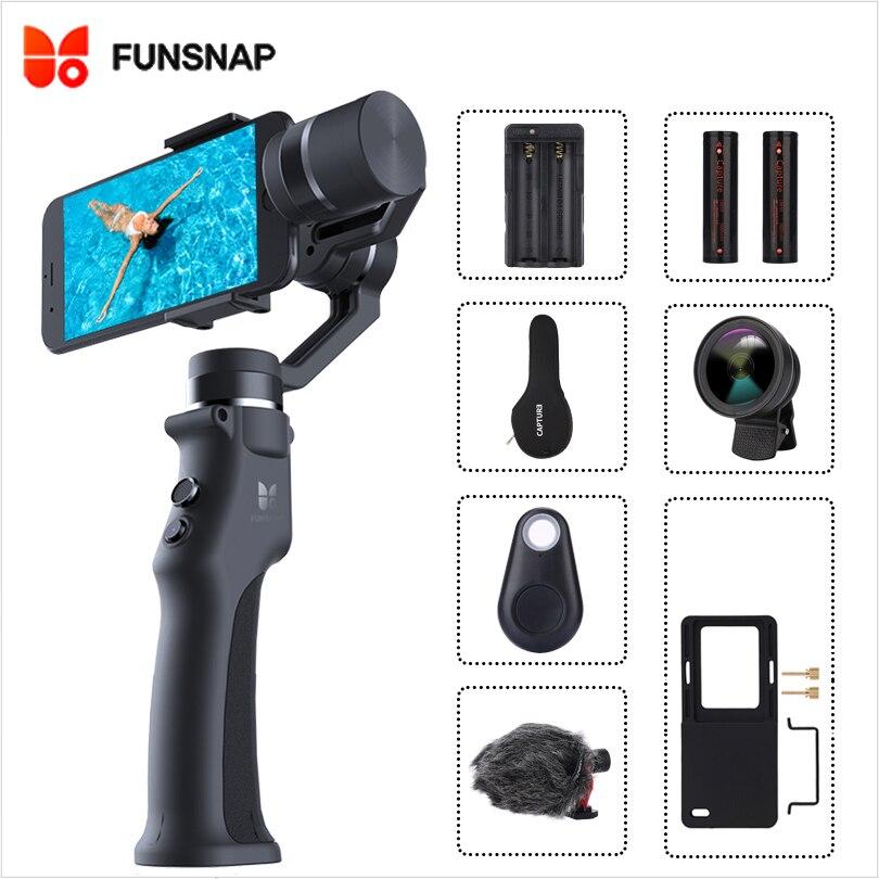 Funsnap Capture 3 Axis Handheld Gimbal Stabilizer for smartphone mobile phone gopro EKEN SJCAM action cameraHandheld Gimbal   -