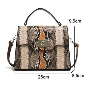 Image 5 - FUNMARDI VINTAGE Serpentineไหล่กระเป๋าล็อคFLAPกระเป๋าความคมชัดสีผู้หญิงกระเป๋างูRetro Crossbodyกระเป๋าWLHB2031