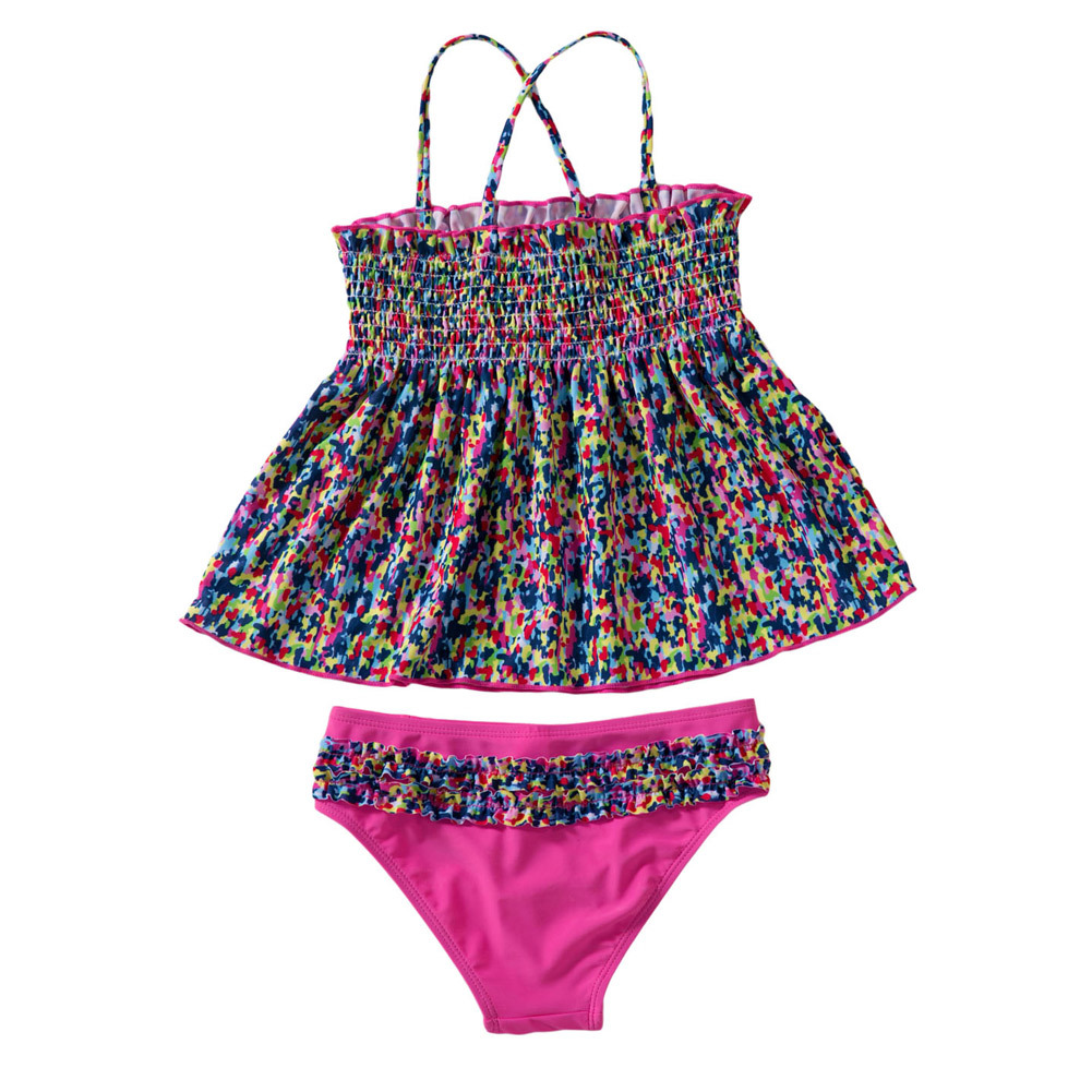 Shi Ying New Style Color Camisole Wireless Cup Without Chest Pad Girls' Two-piece Dress Two-piece Swimsuits 410006