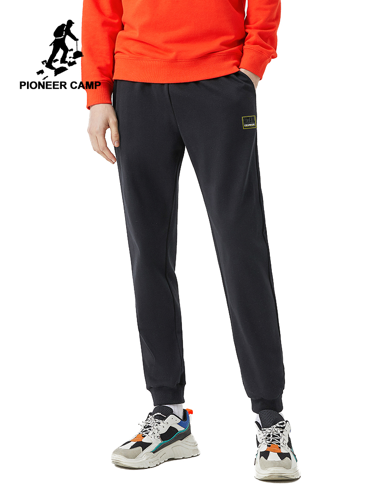 Pioneer Camp 2020 Spring New Jogger Pants Men 100%cotton Drawstring Comfortable Elastic Waist Sweatpants AZZ0107025