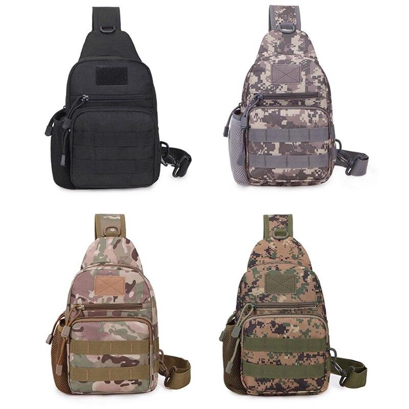 Нейлоновая спортивная сумка на грудь, Тактическая Военная сумка на ремне для мужчин и женщин, уличная походная сумка