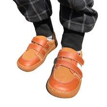 PEKNY BOSA enfants chaussures filles garçons toile cuir chaussures filles pieds nus chaussures grande taille 25-35 enfants pieds nus bambin baskets