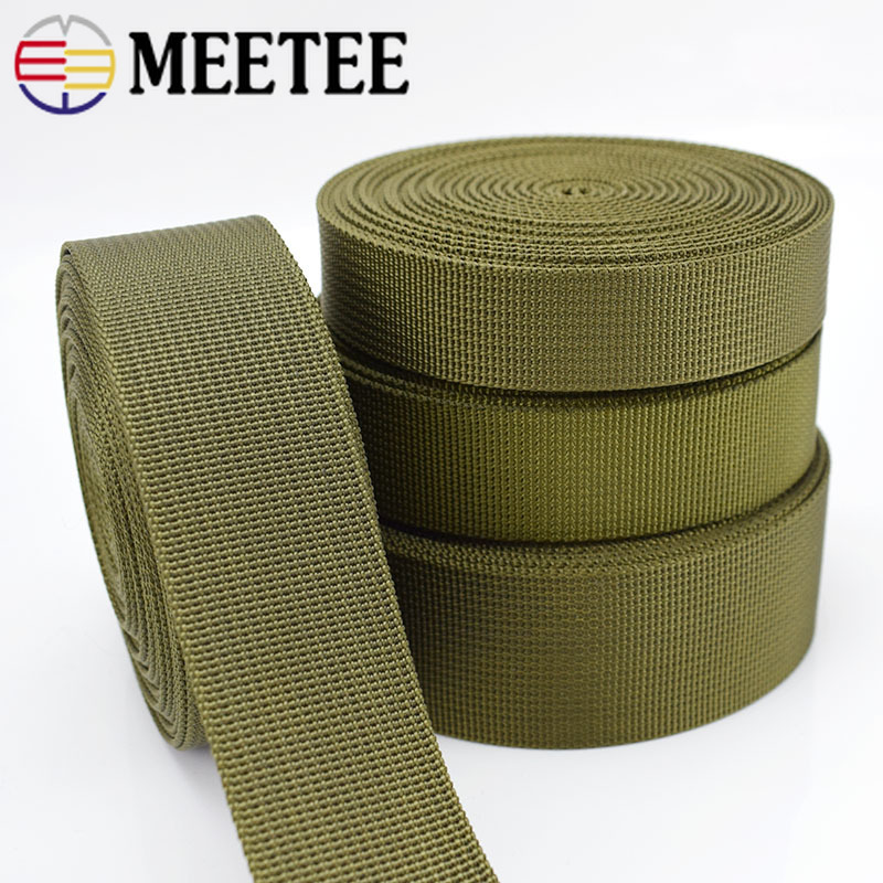 5Meters 20 38mm Army Green Nylon Webbing Tape Trim Sewing Material Safety Belt Knapsack Strap Bag Buckles Clothing Crafts in Ribbons from Home Garden
