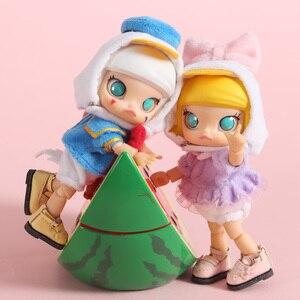 Image 4 - Yeni 3 adet = gömlek + iç çamaşırı + şapka ördek kıyafet oyuncak bebek giysileri için ob11, obitsu11, Molly, 1/12bjd bebek giyim aksesuarları