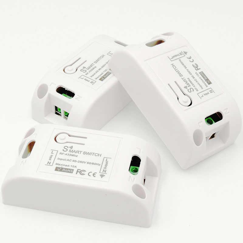 DieSe 433 433mhz のユニバーサルワイヤレスリモコン Ac 220V 10A 1CH RF リレー受信機と送信機スマート照明コントローラ DIY