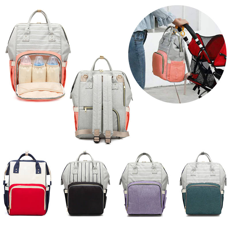 New Colors Large Capacity Diaper Bag Mummy Maternity Nappy Nursing Baby Bags Travel Backpacks Women's Fashion Bag For Baby Care