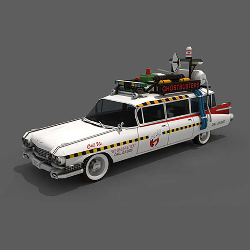 Ghostbusters Ecto-1A Hot Wheels Auto Model Auto Cadillac 3D Papier Model