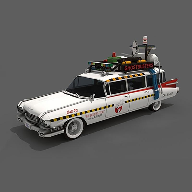 Ghostbusters Ecto-1A Hot Wheels Car Model Car Cadillac 3D Paper Model