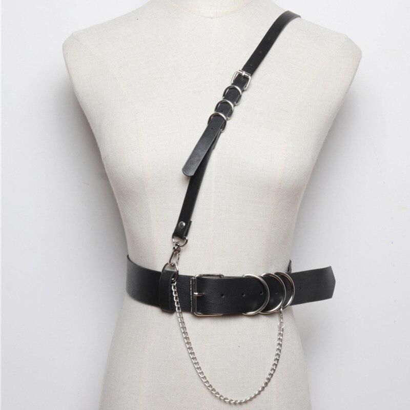 TVVOVVIN 2020 Strap Belt Integrated Pu Leather Girdle Female Punk Wind Wild T-shirt Accessories Wide Belt Female PC213