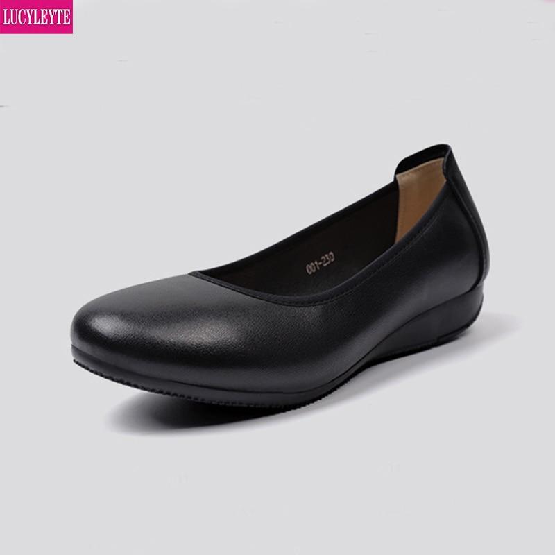 Work shoes women's black round head