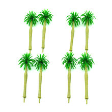 30pcs 4cm scale model green coconut tree toys miniature sandtable color palm trees for diorama tiny seashore scenery making