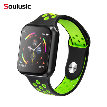 Soulusic Sport Smart Watch F9 IP67 Waterproof Heart rate Full Touch Screen Smartwatch for Apple Android Watch PK F8 w34 iwo 8 10 1