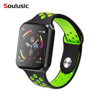 Soulusic esporte relógio inteligente f9 ip67 à prova dip67 água freqüência cardíaca tela de toque completa smartwatch para apple android relógio pk f8 w34 iwo 8 10